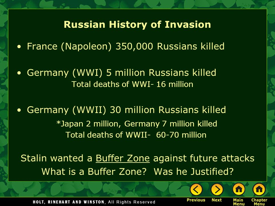 Russian History of Invasion