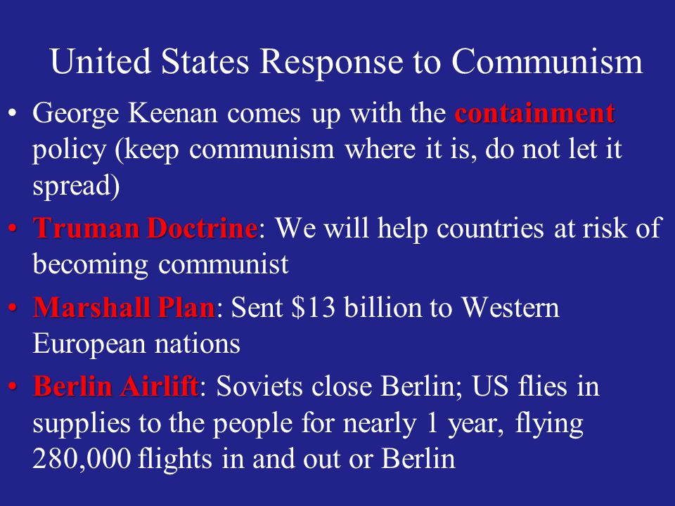 United States Response to Communism