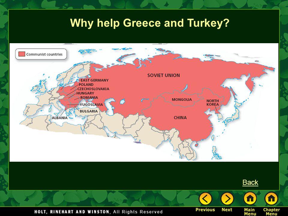 Why help Greece and Turkey