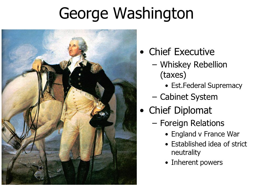 George Washington Chief Executive Chief Diplomat
