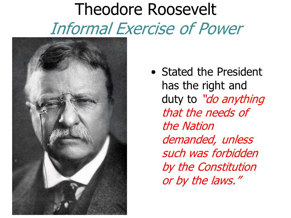 Theodore Roosevelt Informal Exercise of Power