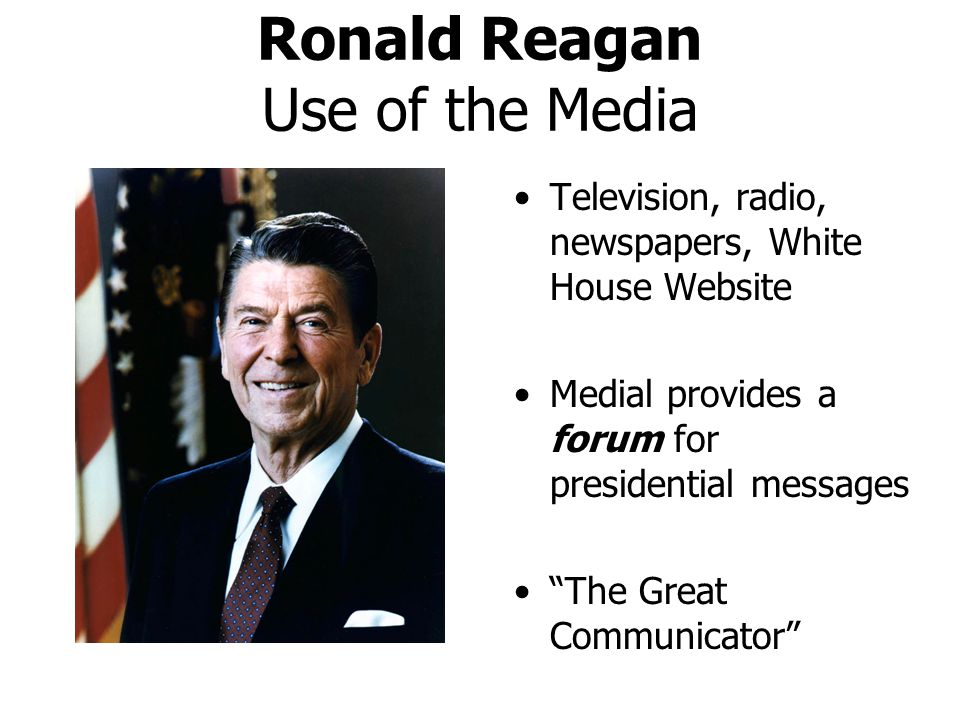 Ronald Reagan Use of the Media