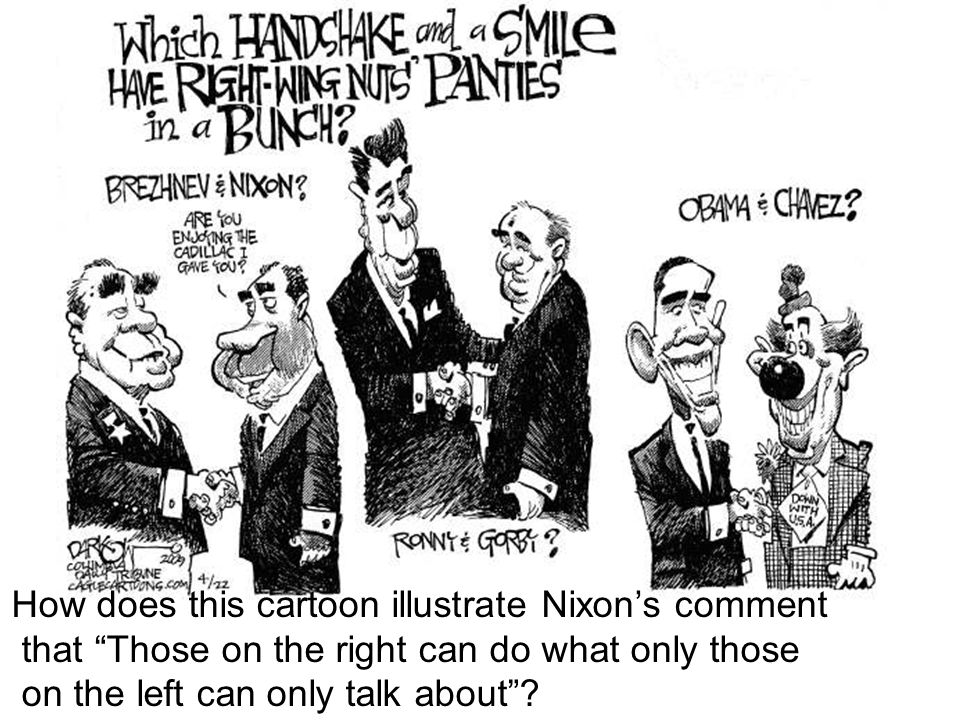 How does this cartoon illustrate Nixon's comment