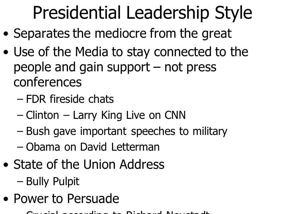 Presidential Leadership Style