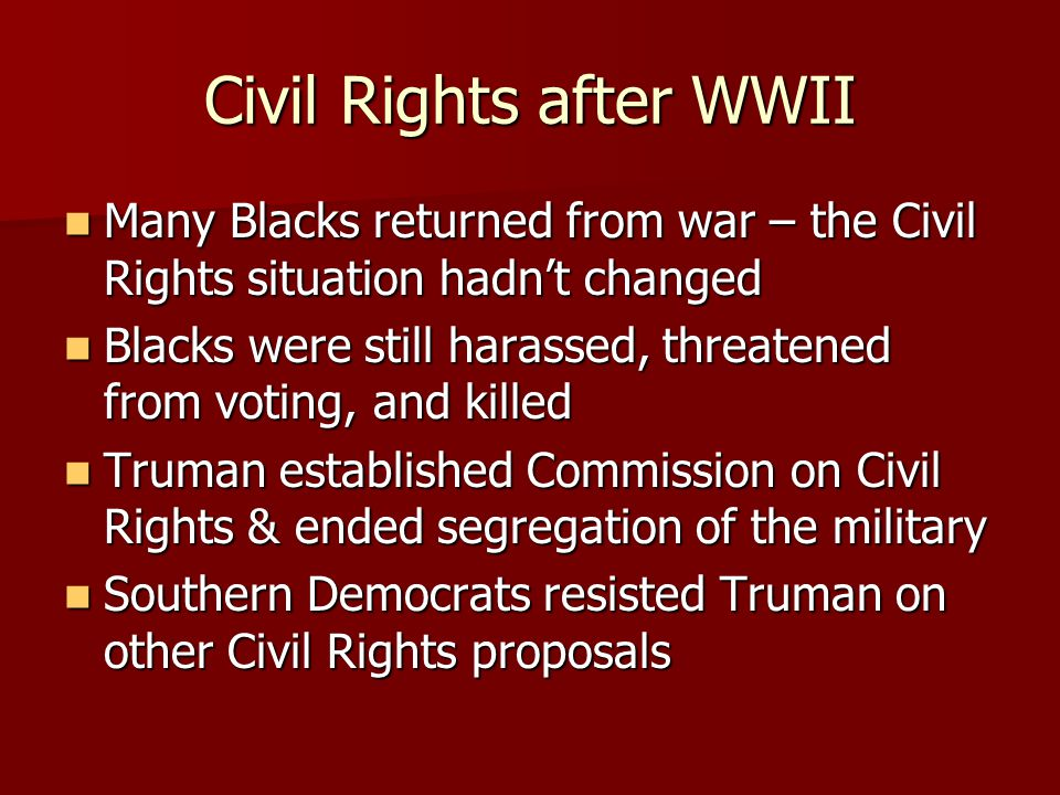 Civil Rights after WWII