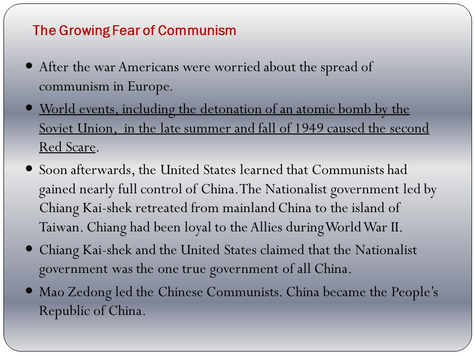 The Growing Fear of Communism