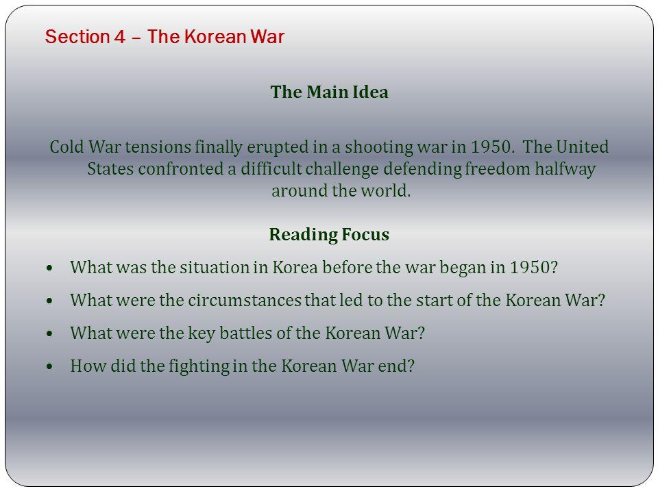 Section 4 – The Korean War