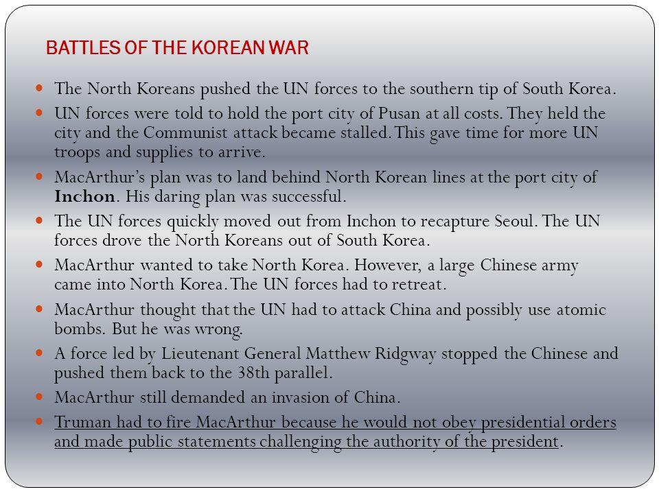 BATTLES OF THE KOREAN WAR