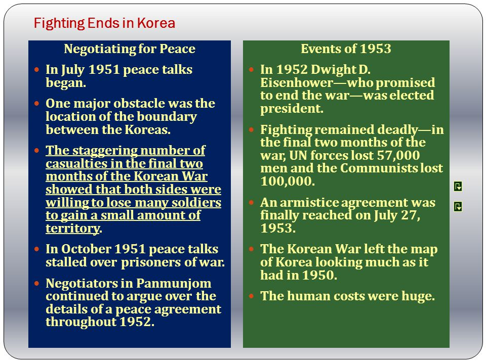 Fighting Ends in Korea Negotiating for Peace