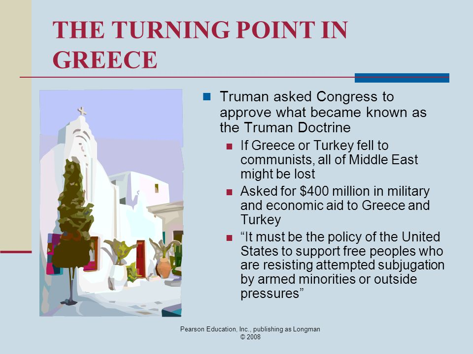 THE TURNING POINT IN GREECE