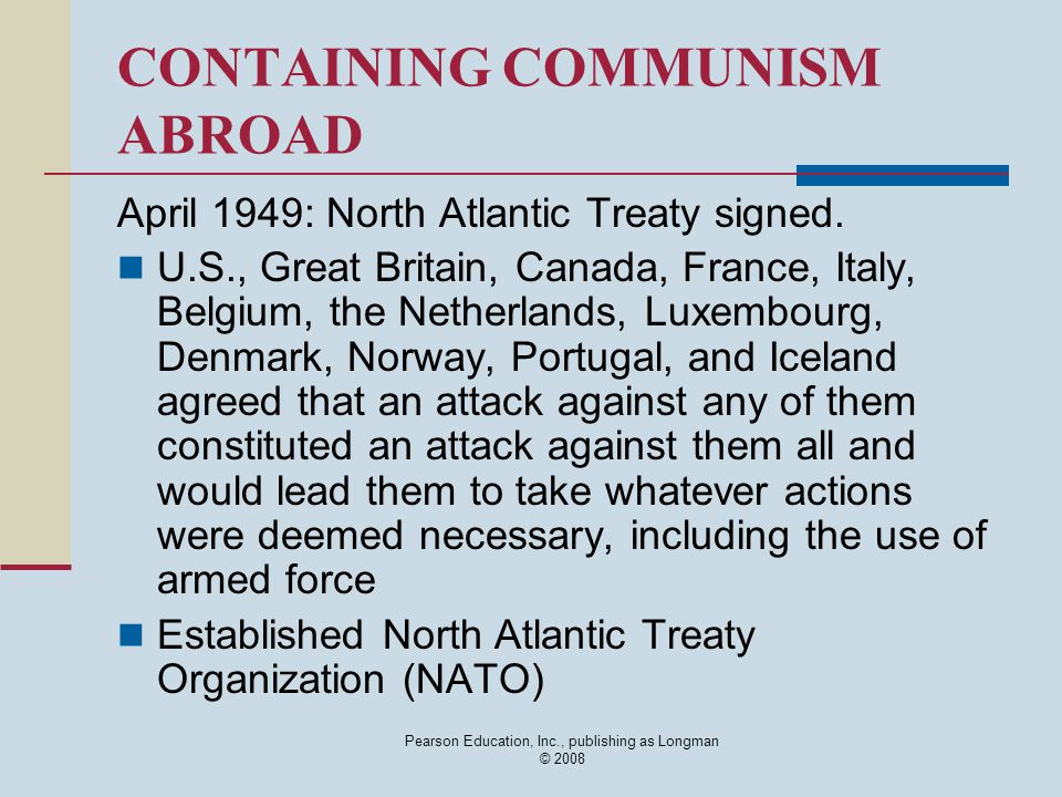 CONTAINING COMMUNISM ABROAD