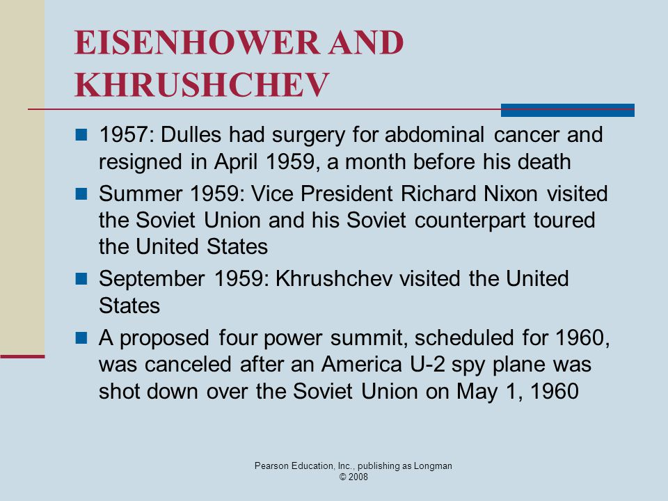 EISENHOWER AND KHRUSHCHEV