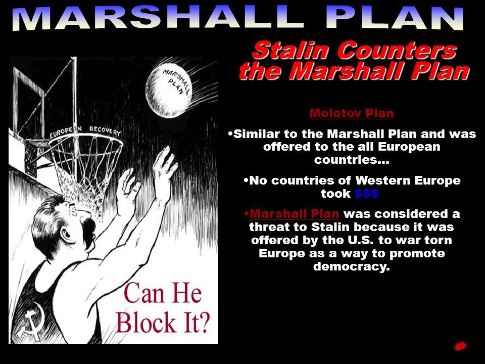 Stalin Counters the Marshall Plan