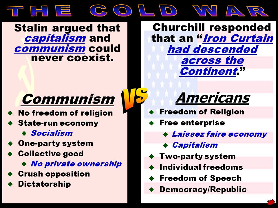 communism could never coexist.