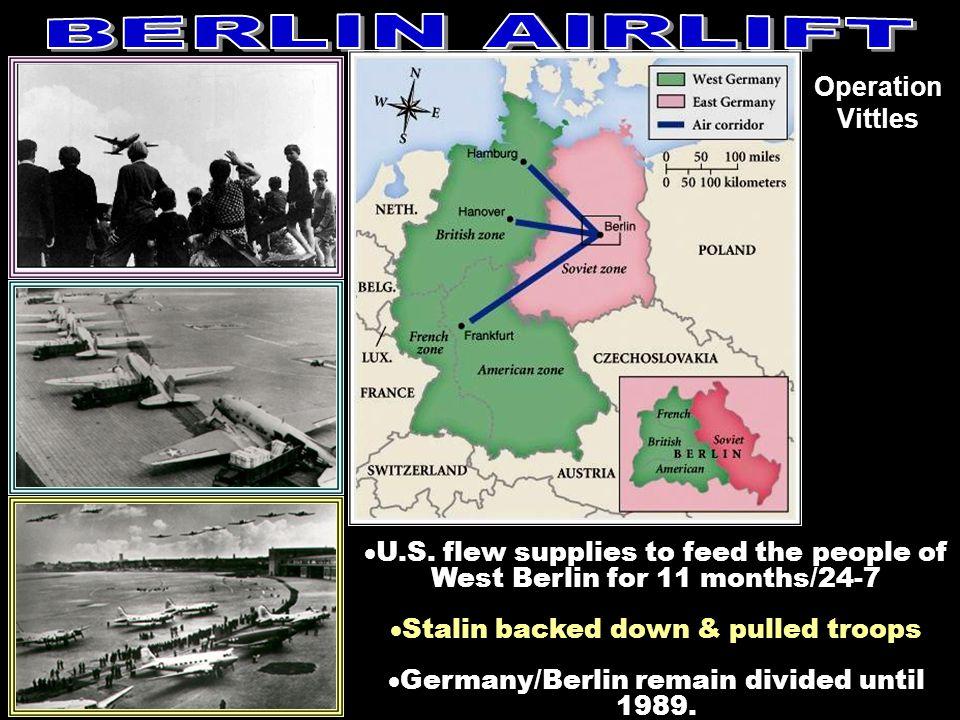 BERLIN AIRLIFT Operation Vittles