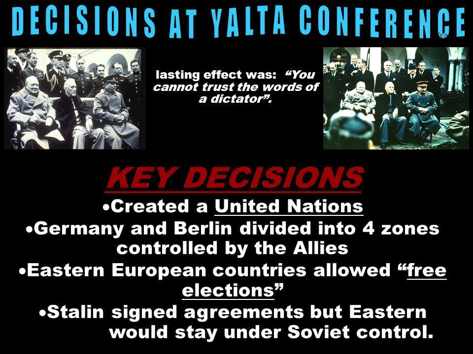 DECISIONS AT YALTA CONFERENCE