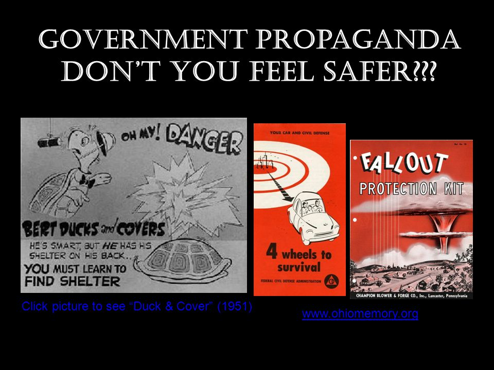 Government Propaganda Don't you feel safer