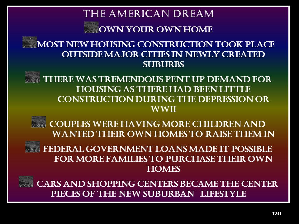 THE AMERICAN DREAM OWN YOUR OWN HOME