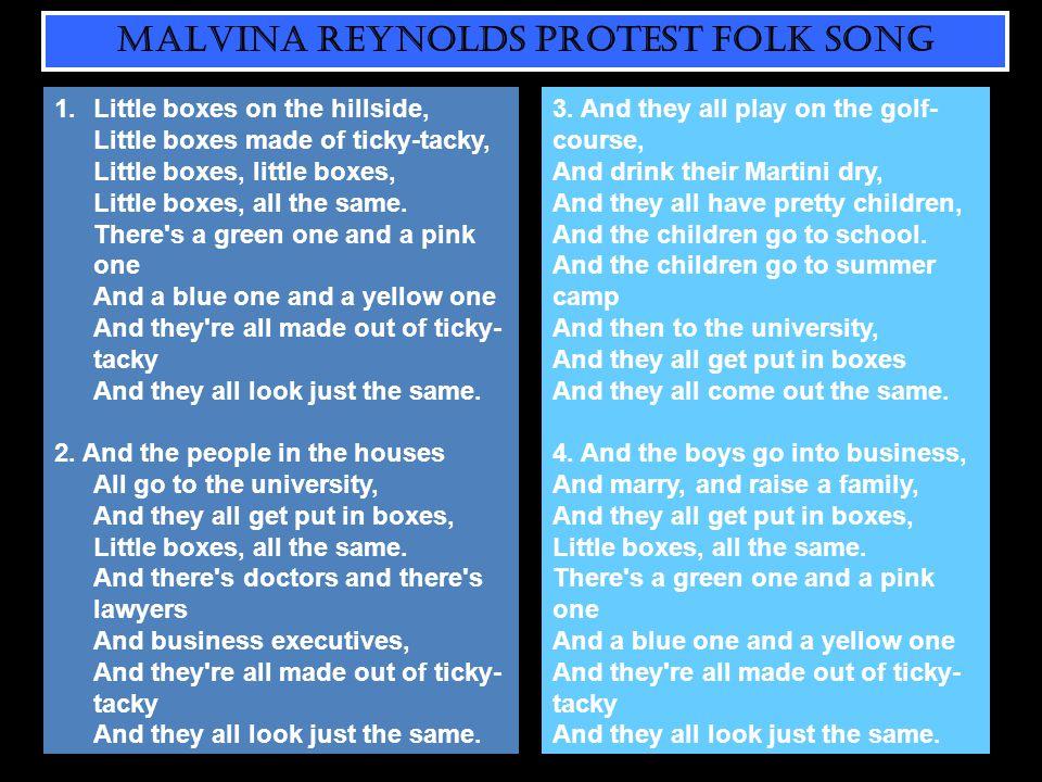 MALVINA REYNOLDS PROTEST FOLK SONG