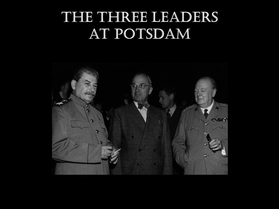 The three leaders at Potsdam