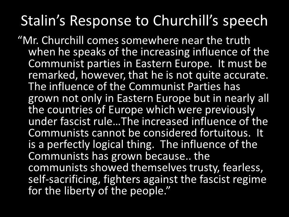 Stalin's Response to Churchill's speech