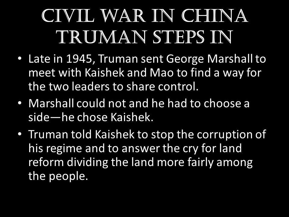 Civil war in china Truman steps in