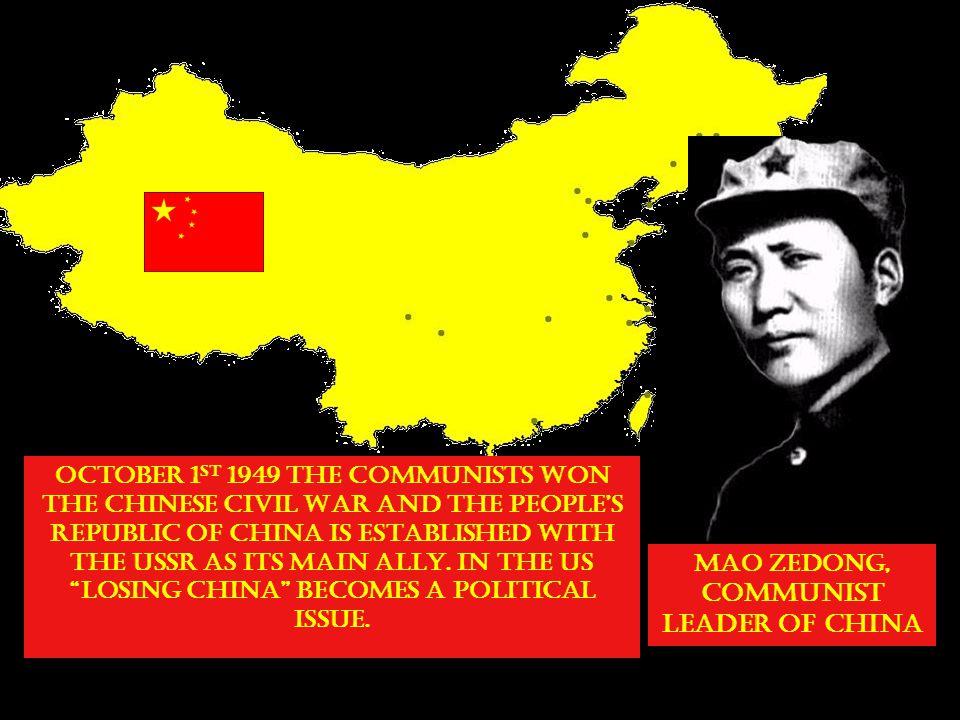 MAO ZEDONG, COMMUNIST LEADER OF CHINA