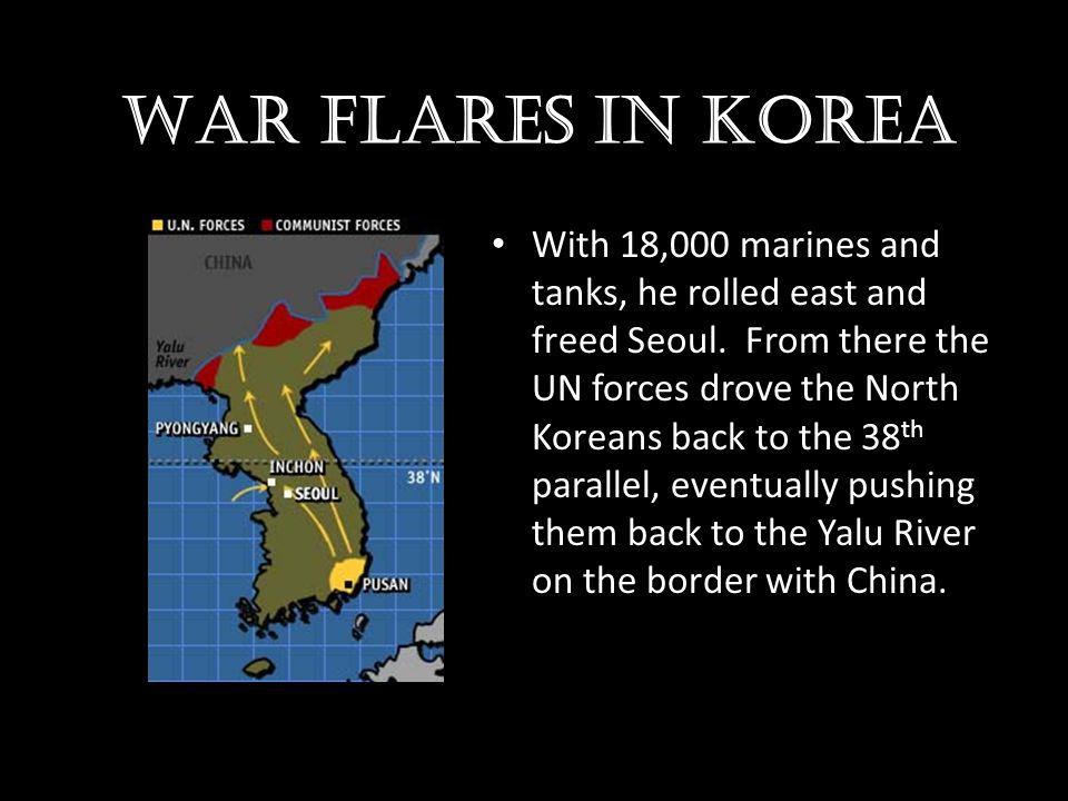 War flares in Korea