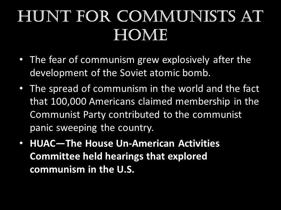 Hunt for communists at home