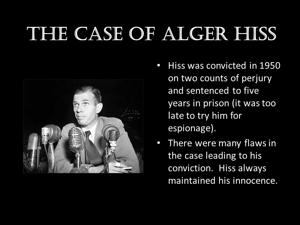 The case of Alger hiss