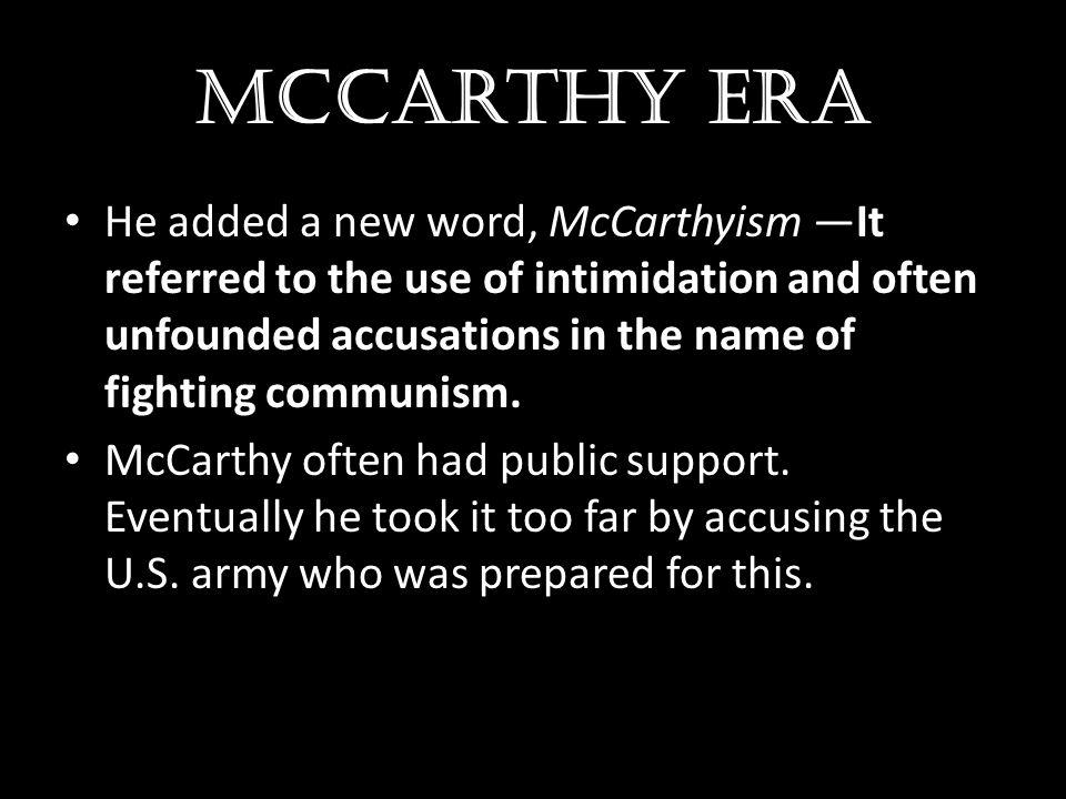 McCarthy era