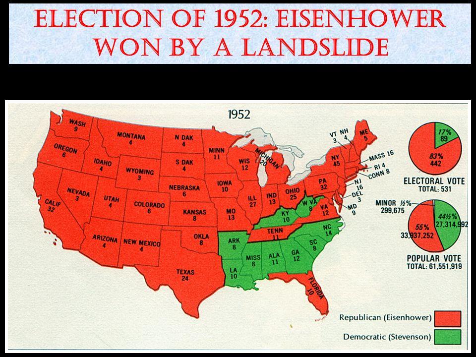 ELECTION OF 1952: EISENHOWER WON BY A LANDSLIDE