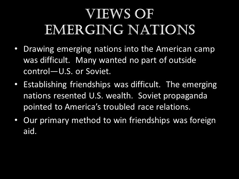 Views of emerging nations