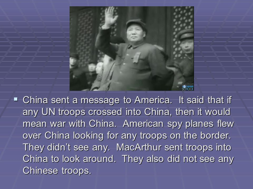 China sent a message to America