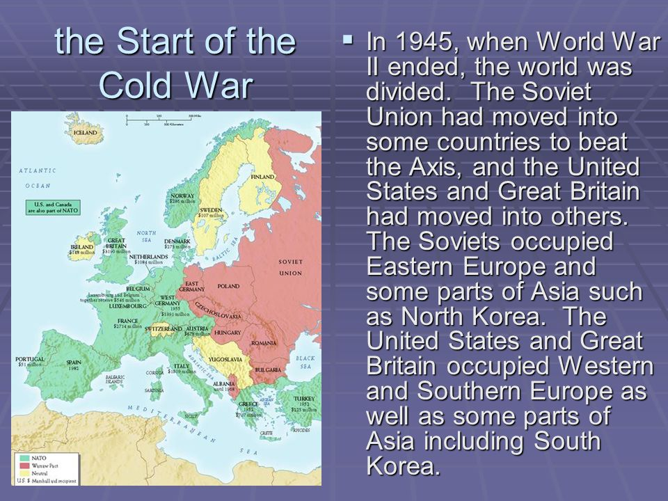 the Start of the Cold War