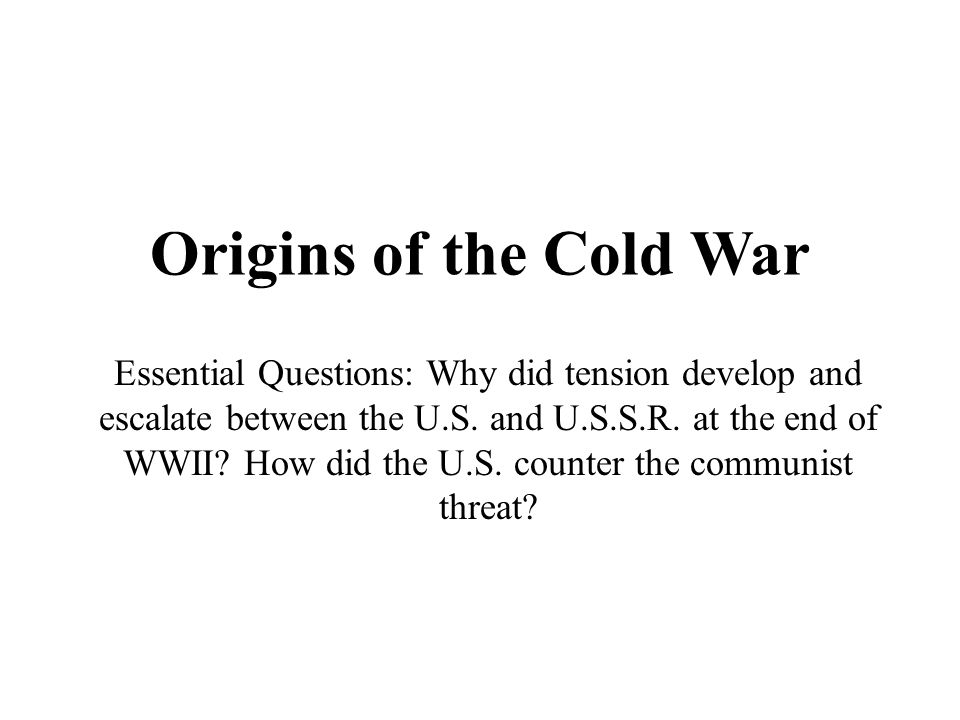 why did the cold war develop The cold war is the name of the international rivalry between the usa and its allies, and the ussr and their allies, from the close of world war 2 until the collapse of the ussr in 1991.