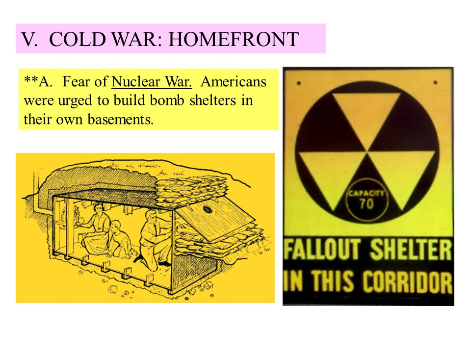 V. COLD WAR: HOMEFRONT **A. Fear of Nuclear War.