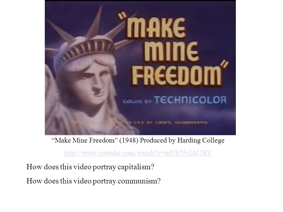 Make Mine Freedom (1948) Produced by Harding College