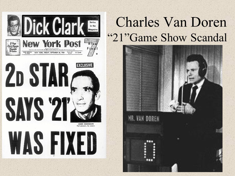 Charles Van Doren 21 Game Show Scandal