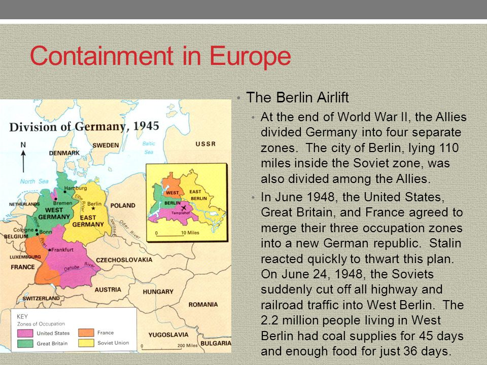 Containment in Europe The Berlin Airlift
