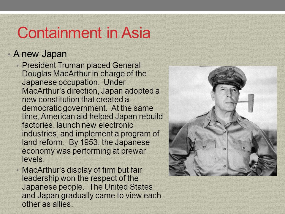 Containment in Asia A new Japan