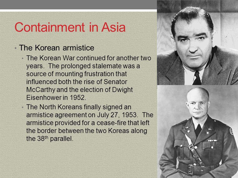 Containment in Asia The Korean armistice