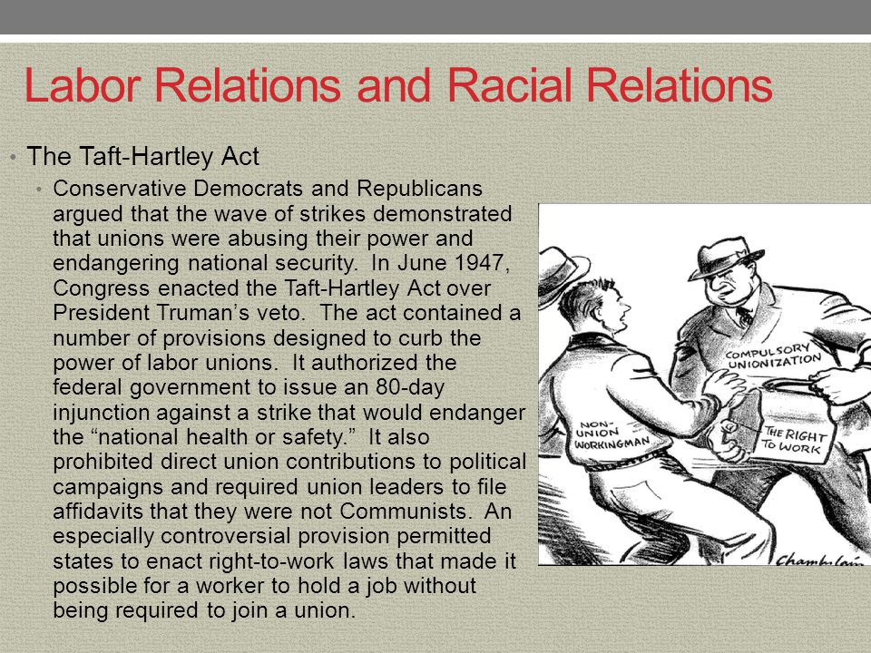 Labor Relations and Racial Relations