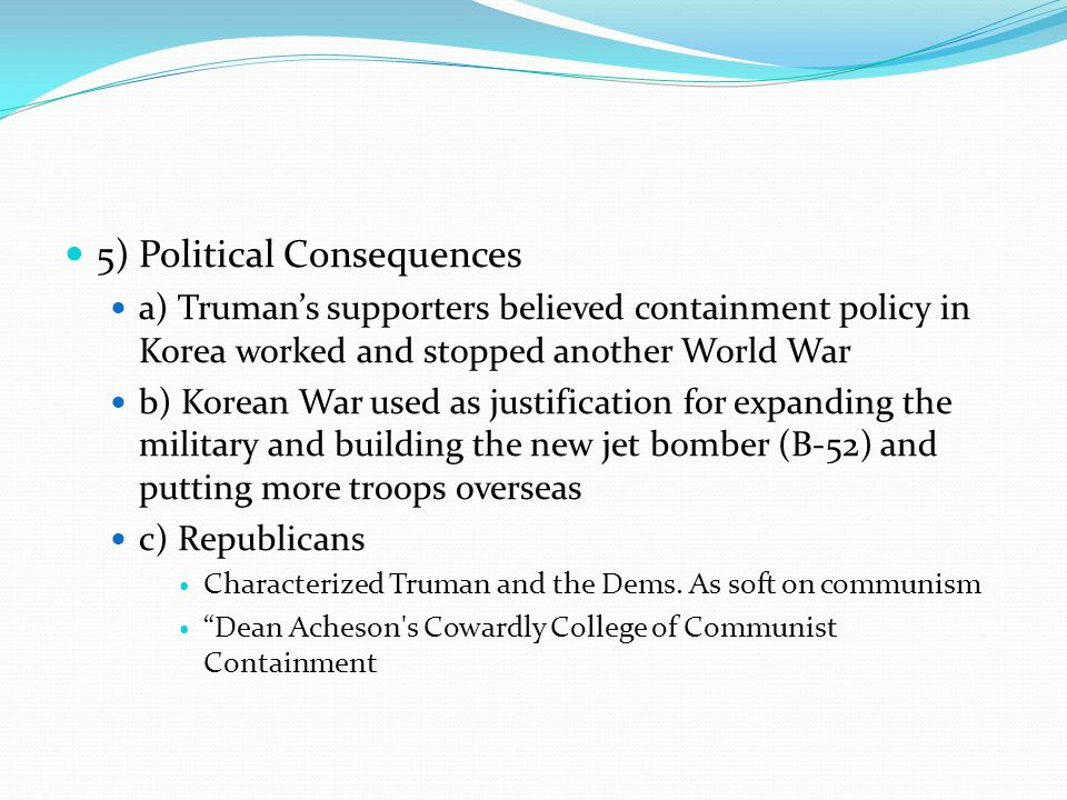 5) Political Consequences