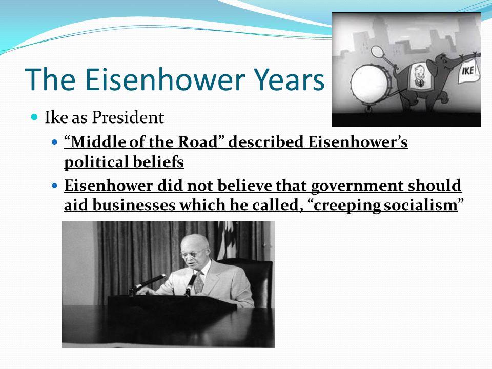 The Eisenhower Years Ike as President