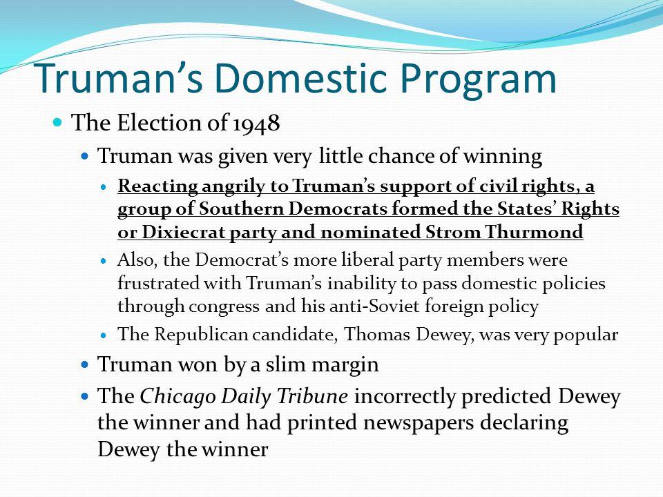 Truman's Domestic Program