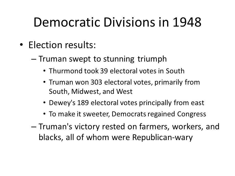 Democratic Divisions in 1948