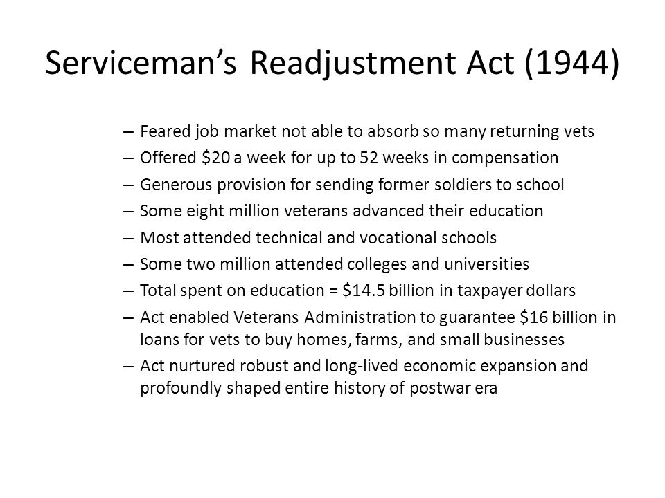 Serviceman's Readjustment Act (1944)