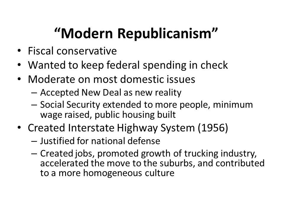 Modern Republicanism