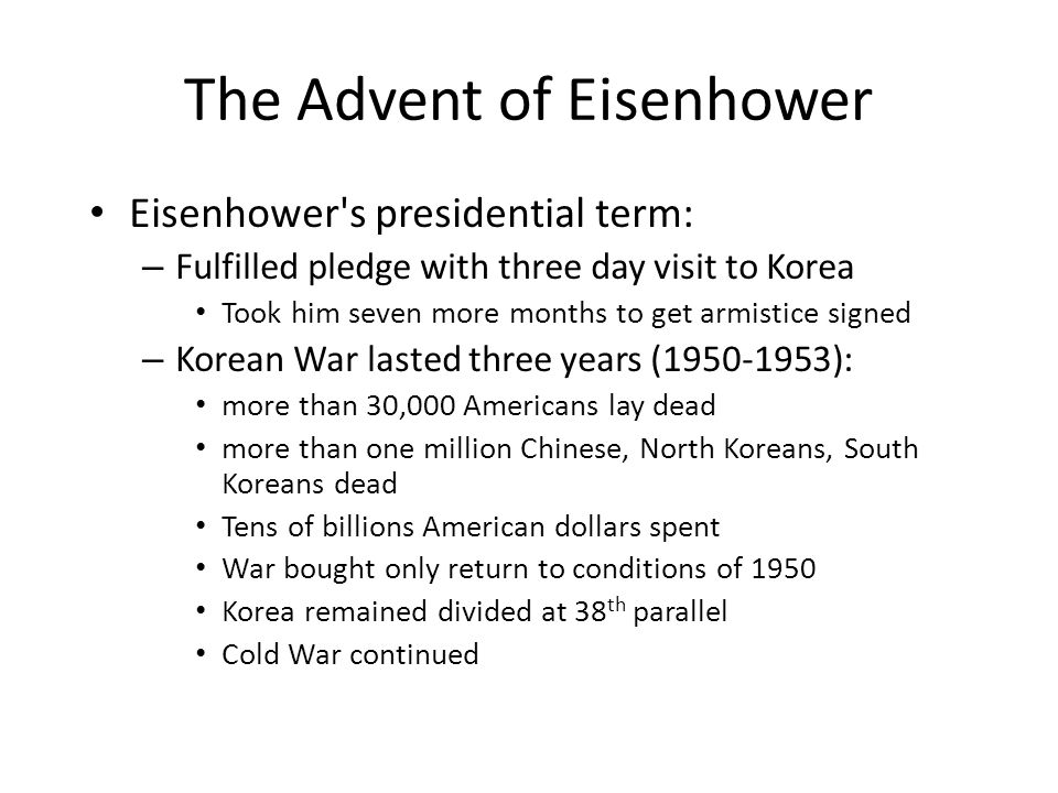 The Advent of Eisenhower